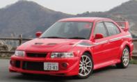 三菱ランサーエボリューション6のレンタカー